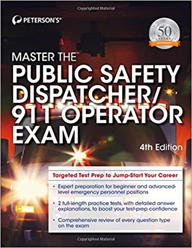 Master the public safety dispatcher911 operator exam petersons master the public safety dispatcher911 operator exam petersons 9780768939873 amazon books fandeluxe Choice Image