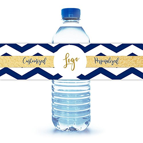 Water Bottle Label Custom Personal Wedding Party Baby Shower Logo Graduation Family -