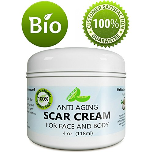 Anti Aging Scar Cream for Face and Body - Scar Removal Cream for Old Scars New Scars & Stretchmarks - Diminish Dark Spots With Anti-aging Antioxidants Vitamin E Jojoba & Cocoa Butter - by Honeydew
