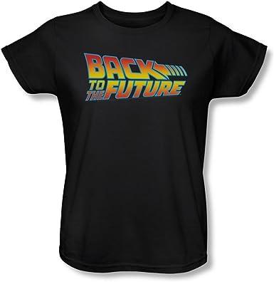 Back to The Future 80s Camiseta de Michael J Fox Scifi con Logo de la película Juniors Gris Gris M: Amazon.es: Ropa y accesorios
