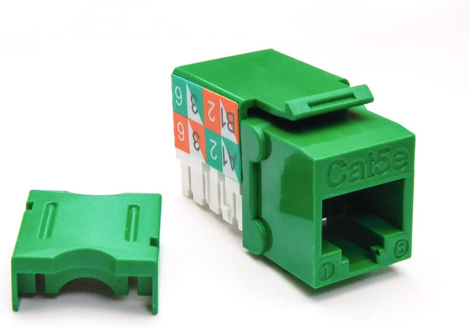 GOWOS Cat.5E RJ45 110 Type Keystone Jack Green