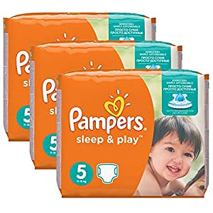 Couches Pampers - Taille 5 sleep & play - 116 couches bébé 12
