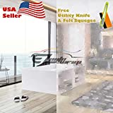 Free Tool Kit EZAUTOWRAP River Stone Frosted Glass Peel And Stick Window Film Home Bedroom Bathroom Privacy Waterproof Sticker Decal - 48''X540'' (4FT X 45FT)