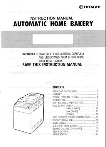 hitachi bread machine parts