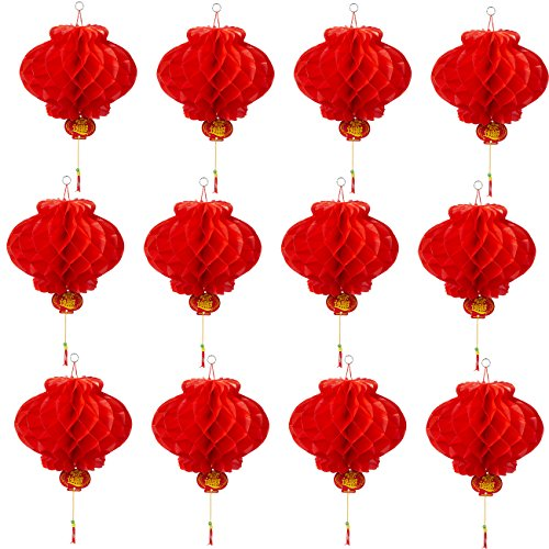 12-Piece-Chinese-Lanterns-Red-Hanging-Chinese-Decorations-for-Lunar-New-Year-Spring-Festivals-or-Celebrations-94-x-185-Inches