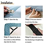 QoeCycth Bed Sheet Holder Straps, 2Pcs Adjustable