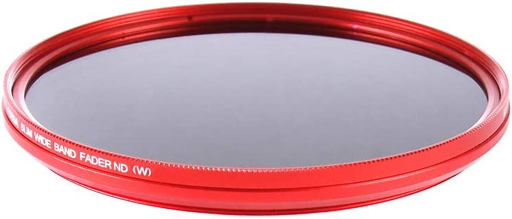 FocusFoto Fotga 77mm Ultra Slim Variable Fader ND2-ND400 Neutral Density ND Filter Adjustable ND2 ND4 ND8 ND16 ND32 ND100 to ND400 for Canon Sony Nikon DSLR Camera Lens with Red Frame Ring