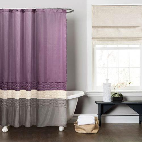 """Hot Jody Clarke 1PC Mia Shower Curtain Shower Panel 72"""" Wide x 72"""" Long (Purple/Beige/Grey) supplier"""