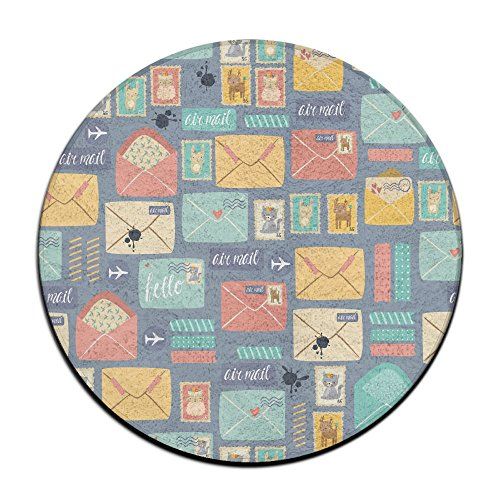 PFUWJ7 Postal Stationery New Style Mat Non Slip Circular Indoor Outdoor For Kitchen Bathroom