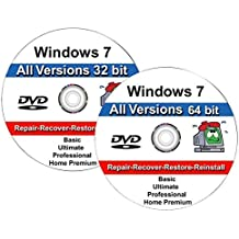 Windows 7 All-in-One All Versions 32/64-Bit Repair, Reinstall, Restore Disc