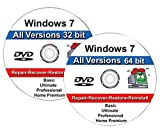 Windows 7 All-in-One All Versions 32/64-Bit Repair, Reinstall, Restore Disc
