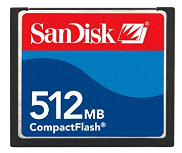 SanDisk 512 MB CompactFlash Card, SDCFB-512-A10 CF Type I Card