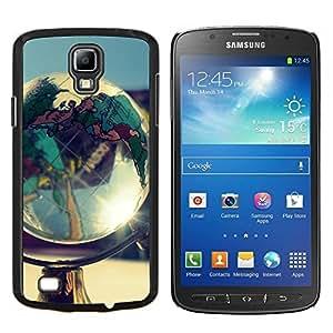 """Be-Star Único Patrón Plástico Duro Fundas Cover Cubre Hard Case Cover Para Samsung i9295 Galaxy S4 Active / i537 (NOT S4) ( Globo de la tierra del planeta Goegraphy Continentes"""" )"""