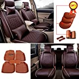 FLY5D PU Leather 5-Seats Auto Car Seat Cover Cushion Fron...