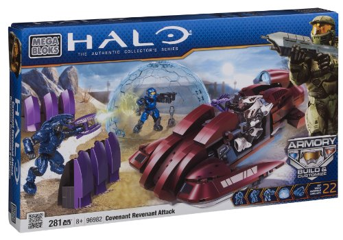 Megabloks - 96982U - Jeu de Construction - Halo - Covenant Revenant Attack