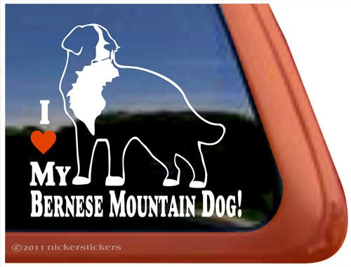 Bernese Mountain Vinyl Window Sticker