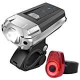 BESTSUN Bike Light Set, Powerful Lumens LED Bicycle Headlight & TAIL LIGHT, Bike Front Lights Back Safety Flashlight, USB Rechargeable, Water Resistant, Easy to Install, for Kids Adults Road Cycling