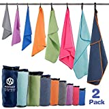 """Microfiber Sport Travel Towel Set-(XXL -72""""x32""""+24""""x12"""")-Quick Dry, Absorbent, Ultra Compact Towels-Fit for Beach"""