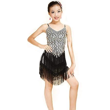 JIE. Falda de Baile Latino para niños Niñas Nuevas Gotas de Agua ...