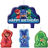 PJ Masks Birthday Cake Candles - 4 Set