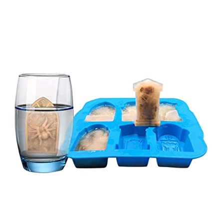 Amazon.com: DDLmax Cube Trays, Creativity 3D Tombstone Ice Cube Mold Wine Ice Cube Tray Maker Ice Tray: Kitchen & Dining