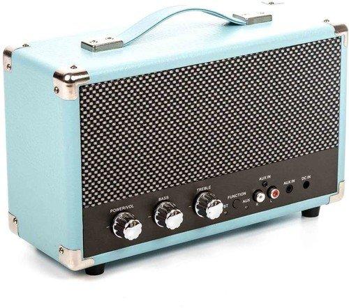 GPO SW158HBLU Westwood Vintage Bluetooth 25 Watt Speaker Blue by GPO