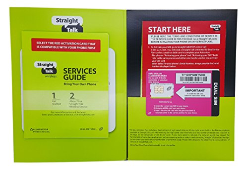 Straight Talk SIM Card for T-mobile or Compatible GSM Phones