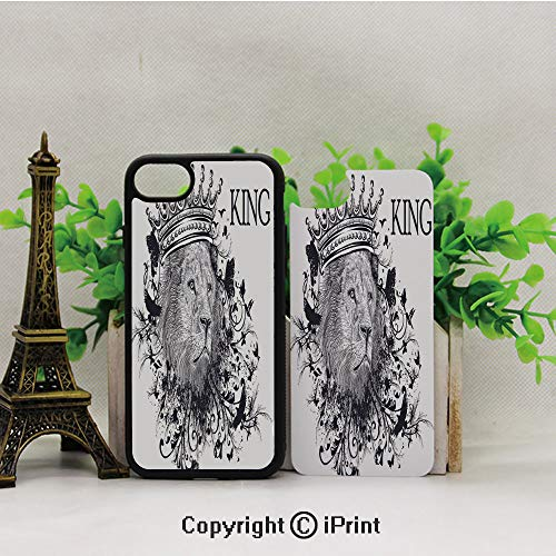 Cellphone Case,Reign-of-The-Jungle-Forest-Symbol-of-Courage-Safari-Animal-Lion-Grunge-Design,Suitable for iPhone7 iPhone8 ()