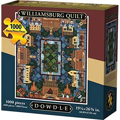Dowdle Jigsaw Puzzle - Williamsburg Quilt - 1000 Piece: Toys & Games