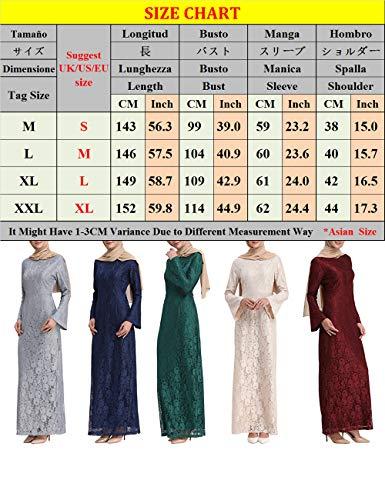 En Kaftan Taambab Pour Mode Manche Rouge Long Femmes Dentelle Longue Islamique Marocain Jalabiyas Abaya Robe Yvbyfg76