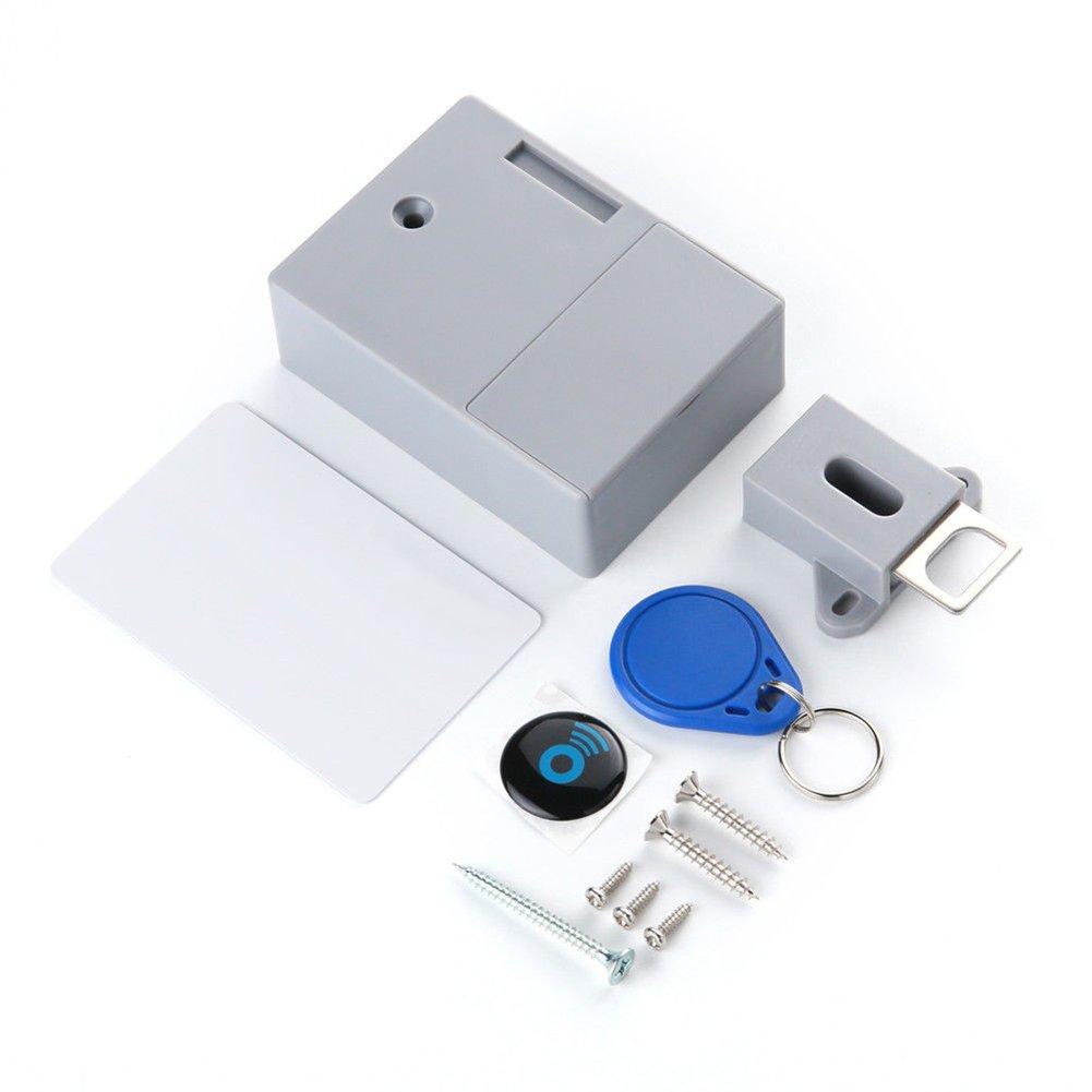 Promisy IC Card Sensor Digital RFID Lock For Cabinet,Drawer & Furniture Locks Smart Lock,DIY Hidden Digital Lock Without Perforate Hole