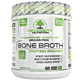 Bone Broth Protein Powder - Natural & Pure Paleo/Keto Friendly Gluten Free - Grass Fed Pasture Raised Non GMO - Premium Gut Health Nutrition High Quality Collagen F/Skin 22 servings 17.3oz Best Value