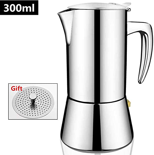 Amazon.com: Cafetera italiana de acero inoxidable para café ...