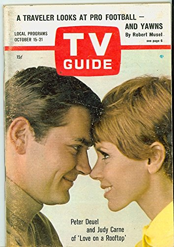 Top Love Label (1966 TV Guide Oct 15 Love on a Rooftop - Eastern Washington Edition NO MAILING LABEL Excellent (5 out of 10) Lightly Used by Mickeys Pubs)