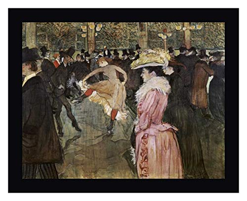 at The Moulin Rouge: The Dance by Henri Toulouse-Lautrec 27