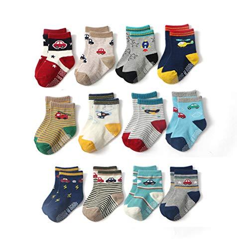 Estwell 12 paar babysokken antislip kindersokken peuters karikatuur schattig katoen stopper ABS sokken voor baby jongens…