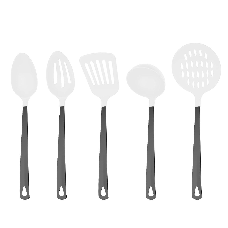 White nylon utensil set
