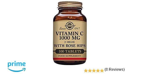 Solgar Vitamina C con escaramujo 1000 mg Comprimidos - Envase de 100: Amazon.es: Salud y cuidado personal