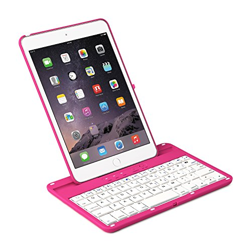 iNNEXT Aluminum 360 Swivel Rotating Stand Case Cover Built-in Bluetooth Keyboard for ipad Mini 1 2 3 with Retina Display (Hot Pink) by iNNEXT (Image #2)'