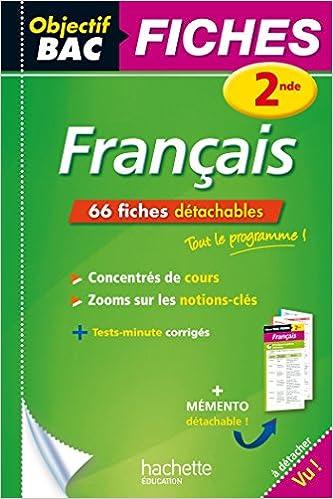 Objectif Bac Fiches Detachables Francais 2nde Amazon Fr