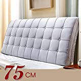 Bed cushion / backrest / bed Soft cushion pillow / double bed backrest / Sofa bed big cushion ( Color : Gray , Size : 200759cm )