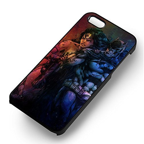 Superheroes Couple 2 pour Coque Iphone 6 et Coque Iphone 6s Case (Noir Boîtier en plastique dur) B4G6NF