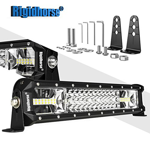LED Light Bar Rigidhorse Triple Row 16 Inch 162W LED Work Light Spot Flood Combo LED Lights Led Bar Driving Lights Trucks Off Road Lights SUV Lighting With Adjustable Mounting Bracket