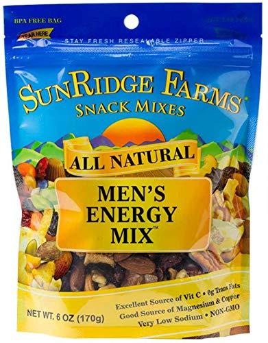- SunRidge Farms Men's Energy Mix NonGMO Verified 6 Ounce Bag (Pack of 12)