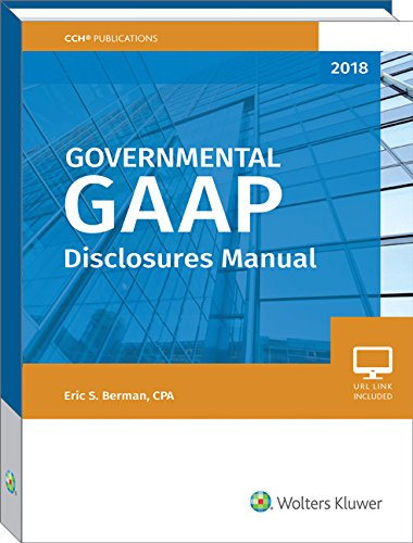 Governmental GAAP Disclosures Manual 2018