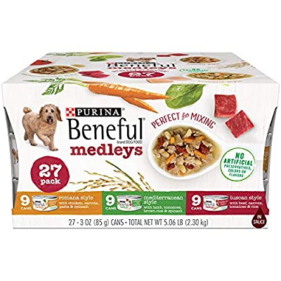 PACK OF 3 - Purina Beneful Medleys Variety Dog Food CT of 27, 3 oz. Cans