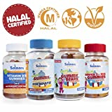 Salaam Nutritionals Halal Mega Family 4 Pack – Children's and Adult Multivitamins, Omega 3 + DHA, Vitamin D – Kosher, Gelatin, Gluten, Dairy, and Nut Free, Non GMO For Sale