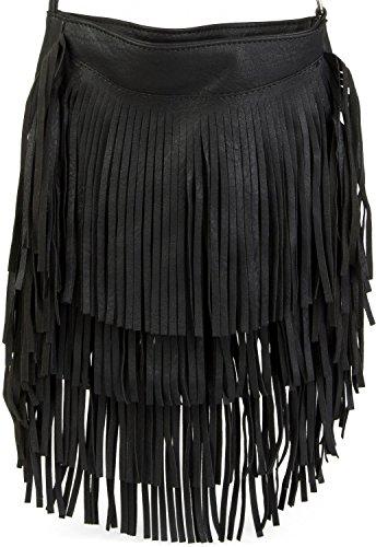 styleBREAKER - Bolso cruzados para mujer gris Antik-Dunkelgrau talla única negro