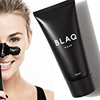 Blaq Charcoal Peel Off Face Mask [Blackhead Remover Mask], Activated Charcoal Face Mask Deep Cleaning Facial Mask for Acne, 60ml