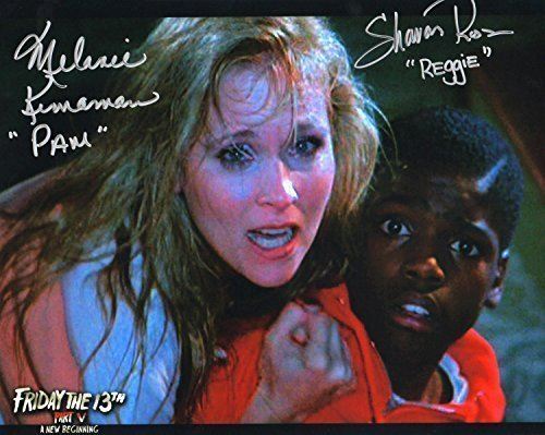 Melanie Kinnaman & Shavar Ross Hand Signed 8x10 Photo Friday the 13th Part 5: A New Beginning